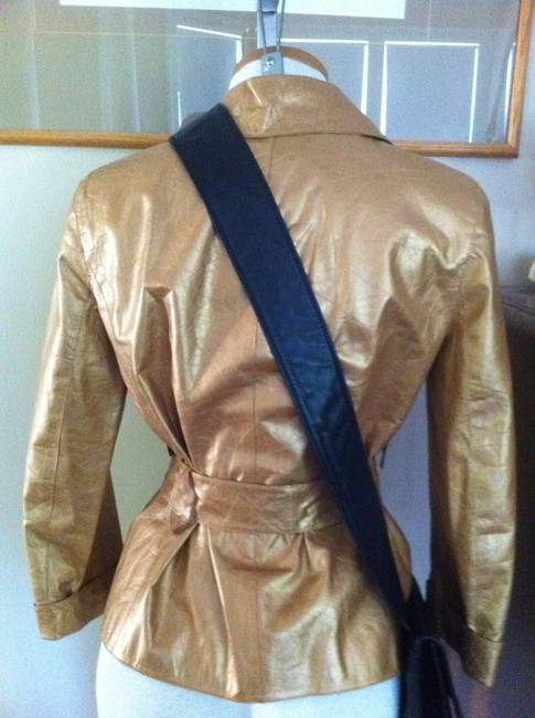 Chanel Gold Leather Jacket Image 4