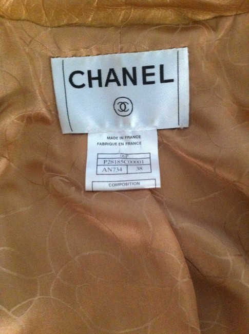 Chanel Gold Leather Jacket Image 5