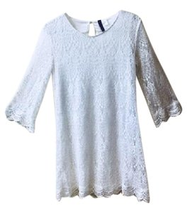 Divided by H&M short dress white Lace Bellsleeve on Tradesy