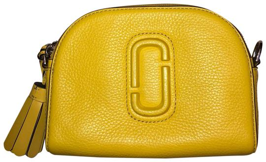 Marc Jacobs Shutter Small Canary/Silver Leather Cross Body Bag