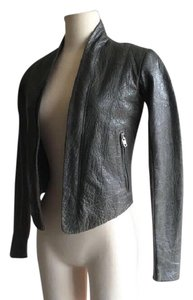 VEDA Xx Small Gray Leather Jacket