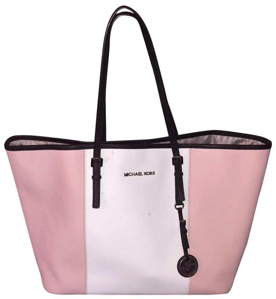 41f506d02fe1d3 Michael Kors Travel Pink Saffiano Leather Tote - Tradesy