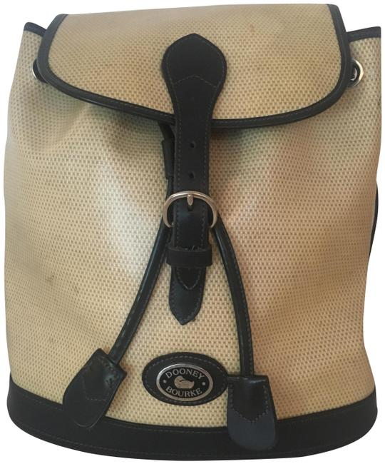 """Item - """"Panama Jack Collection"""" Cream Coated Linen Backpack"""