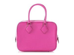 Hermès Hr.p0906.18 Palladium Fuschia Chevre Reduced Price Cross Body Bag