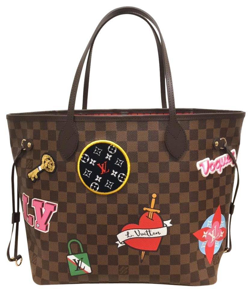 63a027c99 Louis Vuitton Limited Edition Neverfull Mm Patches Neverfull Mm Patches  2018 Patches Collection Tote in Damier ...