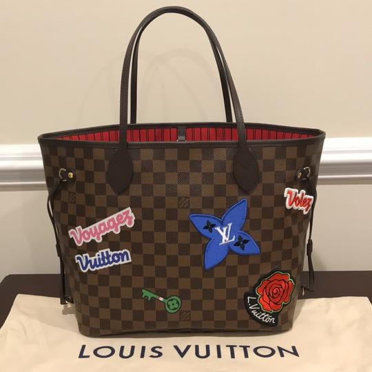 Louis Vuitton Limited Edition Neverfull Mm Patches Neverfull Mm Patches 2018 Patches Collection Tote in Damier Ebene Image 6