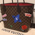 Louis Vuitton Limited Edition Neverfull Mm Patches Neverfull Mm Patches 2018 Patches Collection Tote in Damier Ebene Image 7