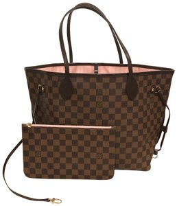 Louis Vuitton Neverfull Neverfull Mm Neverfull Rose Bal Rose Ballerine  Neverfull With Pouch Tote in Damier 1861b07555210