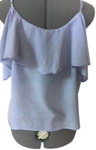 Jack by BB Dakota Ruffle Spaghetti Strap Top Light blue
