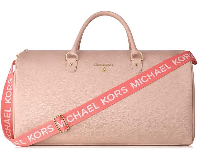 Item - Parfums Collection Duffel Weekend/Travel Tan & Pink Faux Leather Weekend/Travel Bag