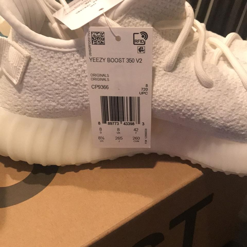 758a315e4 adidas X Yeezy White Cream Boost 350 Sneakers Size US 8.5 Regular (M ...