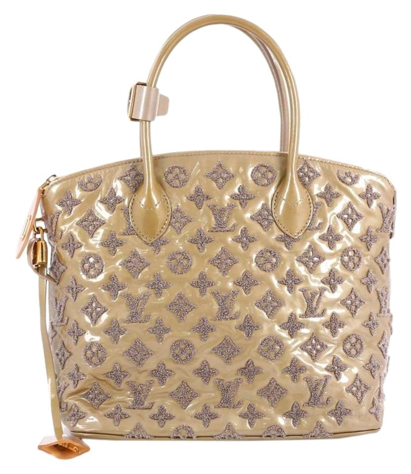 5457d5222e171 Louis Vuitton Lockit Fascination Handbag Patent Light Brown Lambskin Tote