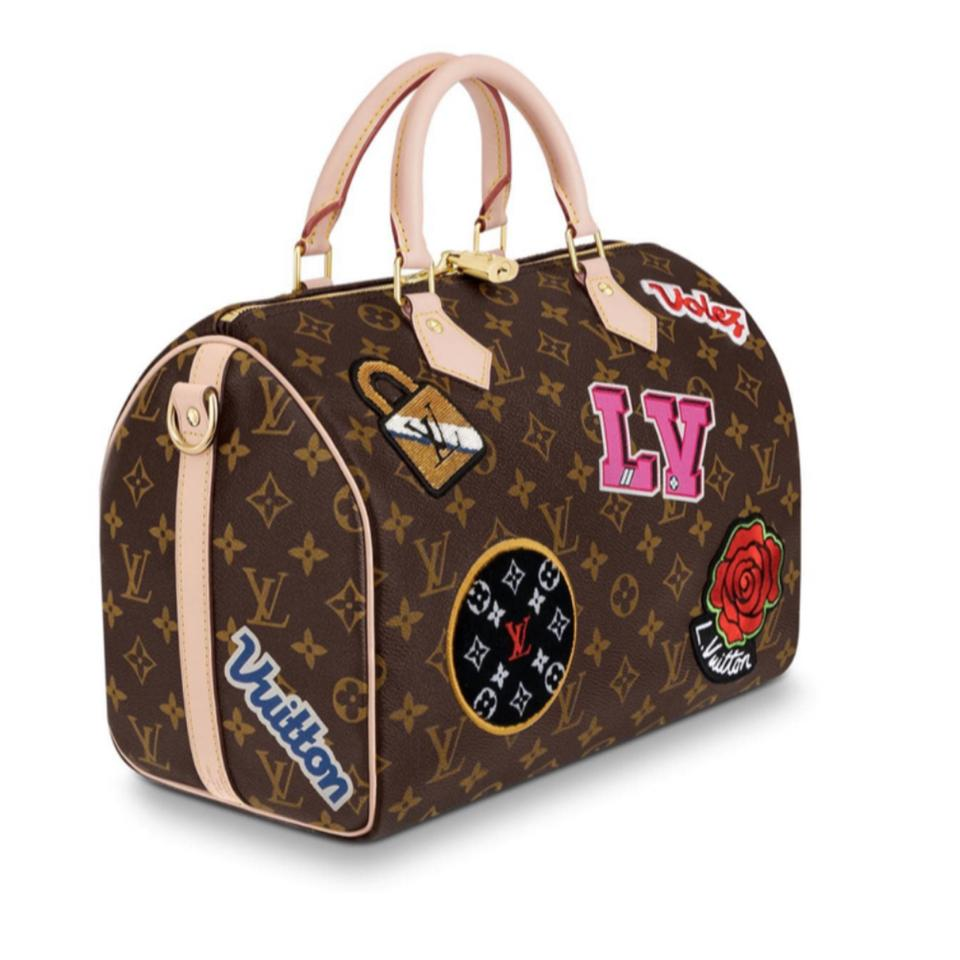 4e3efb8caca0 Louis Vuitton Speedy 2018 Limited 30 Bandouliere Monogram Lv Patches Brown  Coated Canvas Messenger Bag - Tradesy