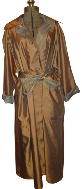 Item - Copper & Pewter Belted Reversible Coat Size 8 (M)