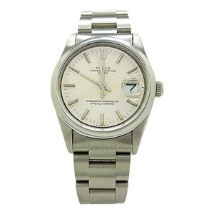 Rolex ROLEX DATE 15200 SILVER INDEX DIAL 34MM SMOOTH BEZEL STAINLESS STEEL W