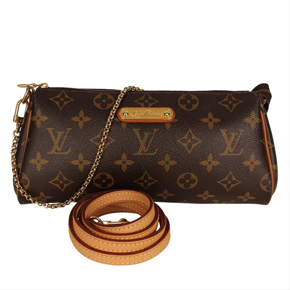 Louis Vuitton Eva Clutches Monogram Canvas Leather Cross Body Bag Image 0  ... 2354c65d2b109