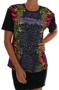 Versace Jeans Collection Bg-tsh1229 T Shirt Black Pink