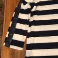 J.Crew Black with White Faux Leather Trim Striped Tunic Size 2 (XS) J.Crew Black with White Faux Leather Trim Striped Tunic Size 2 (XS) Image 2