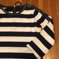 J.Crew Black with White Faux Leather Trim Striped Tunic Size 2 (XS) J.Crew Black with White Faux Leather Trim Striped Tunic Size 2 (XS) Image 4