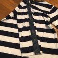 J.Crew Black with White Faux Leather Trim Striped Tunic Size 2 (XS) J.Crew Black with White Faux Leather Trim Striped Tunic Size 2 (XS) Image 8