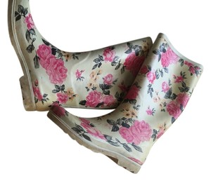 Modcloth Pink-gray Floral Boots