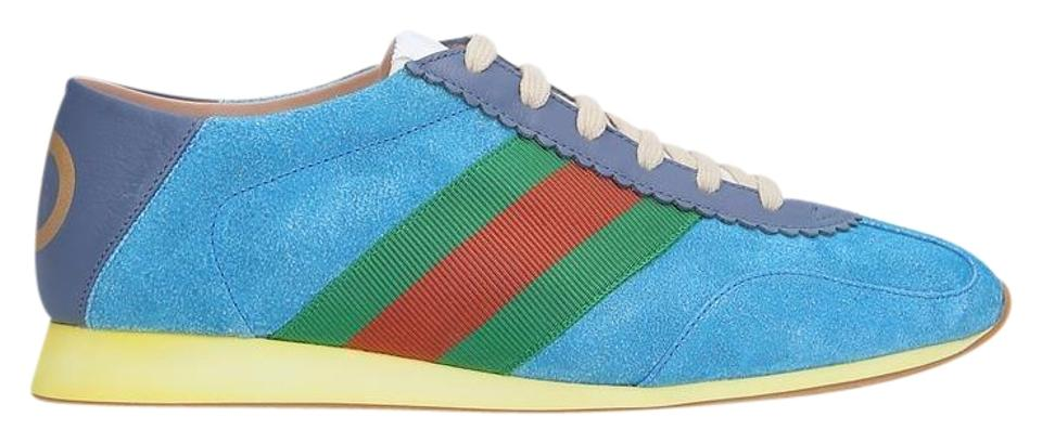 3e9299d01d7 Gucci Blue Suede Sneakers Sneakers Size EU 38 (Approx. US 8) Regular ...