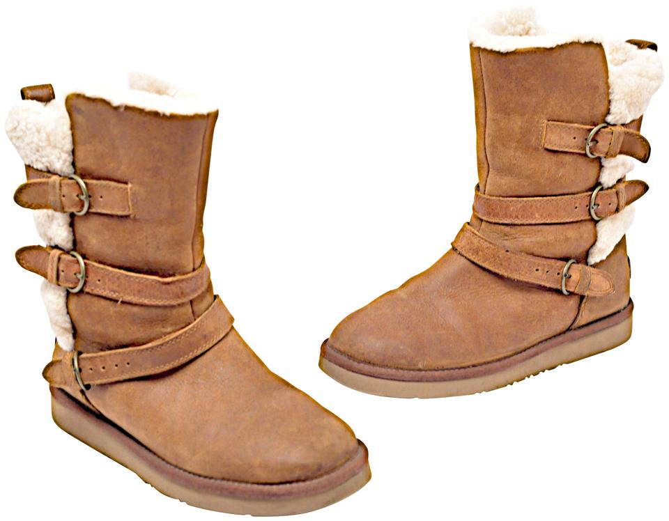 recognized brands affordable price best loved UGG Australia Cognac Shearling Mid Calf with Buckles Boots/Booties Size EU  38 (Approx. US 8) Regular (M, B)
