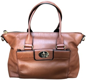 Kate Spade Satchel Pale Gold Hardware Leather Tote in Brown