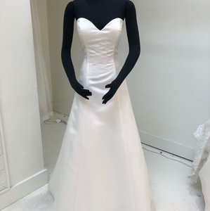 Ivory Dupioni Skylar Traditional Wedding Dress Size 8 (M)