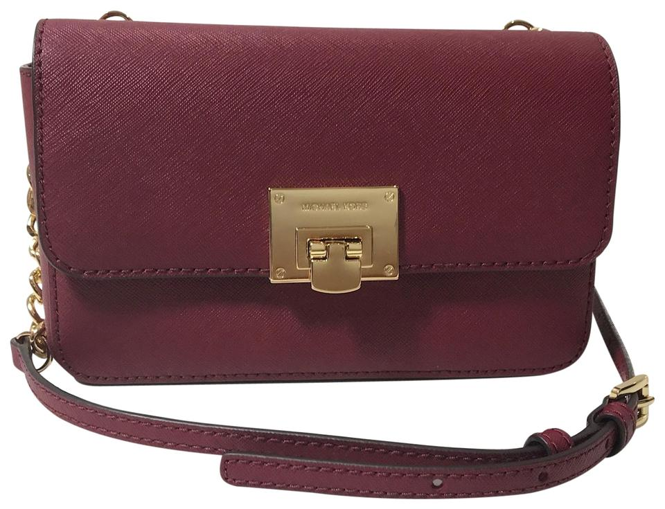 Michael Kors Tina Wallet and Clutch Red Leather Cross Body Bag - Tradesy 5a4d03489b72d
