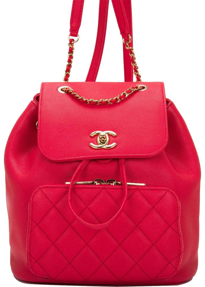 Chanel Backpack Caviar Business Affinity Red Leather Backpack - Tradesy d9c673fa7e051