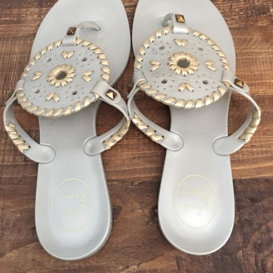 6bedd06a34c Jack Rogers Silver and Gold Georgica Sandals Size US 8 Regular (M