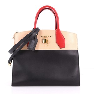 Louis Vuitton Leather Tote in Black and Nude