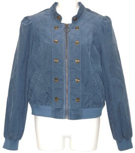 Anthropologie Corduroy Blue Jacket