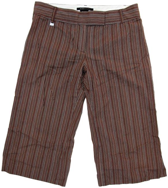 Item - Brown Carrie Striped Gaucho Culotte Shorts Size 4 (S, 27)