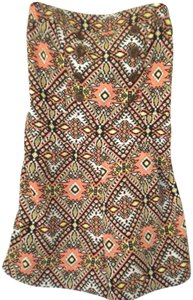 Papaya Strapless Palazzo Shortalls Shorts Multi-Color