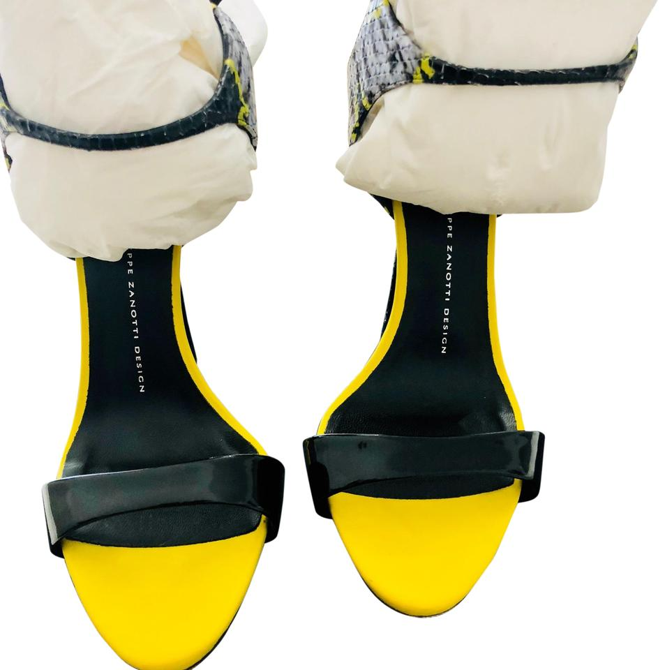 24be46f1ab606 Giuseppe Zanotti Yellow Black White Coline Formal Shoes Size US 9 ...