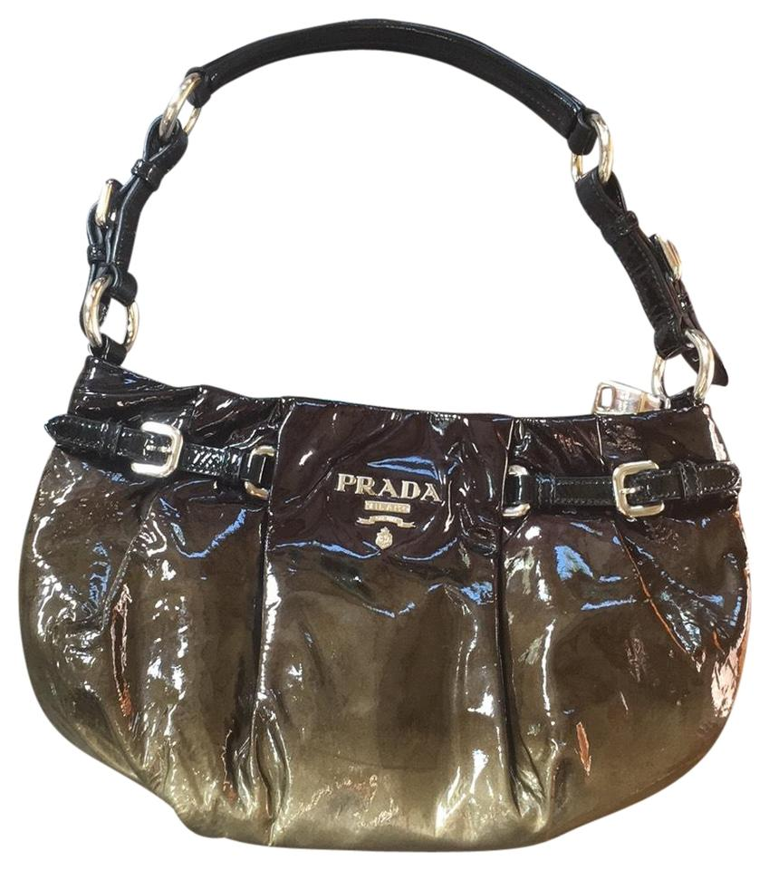 48e819d11d92ea ... promo code for prada baguette olive and silver patent leather hobo bag  tradesy 1b618 1018f