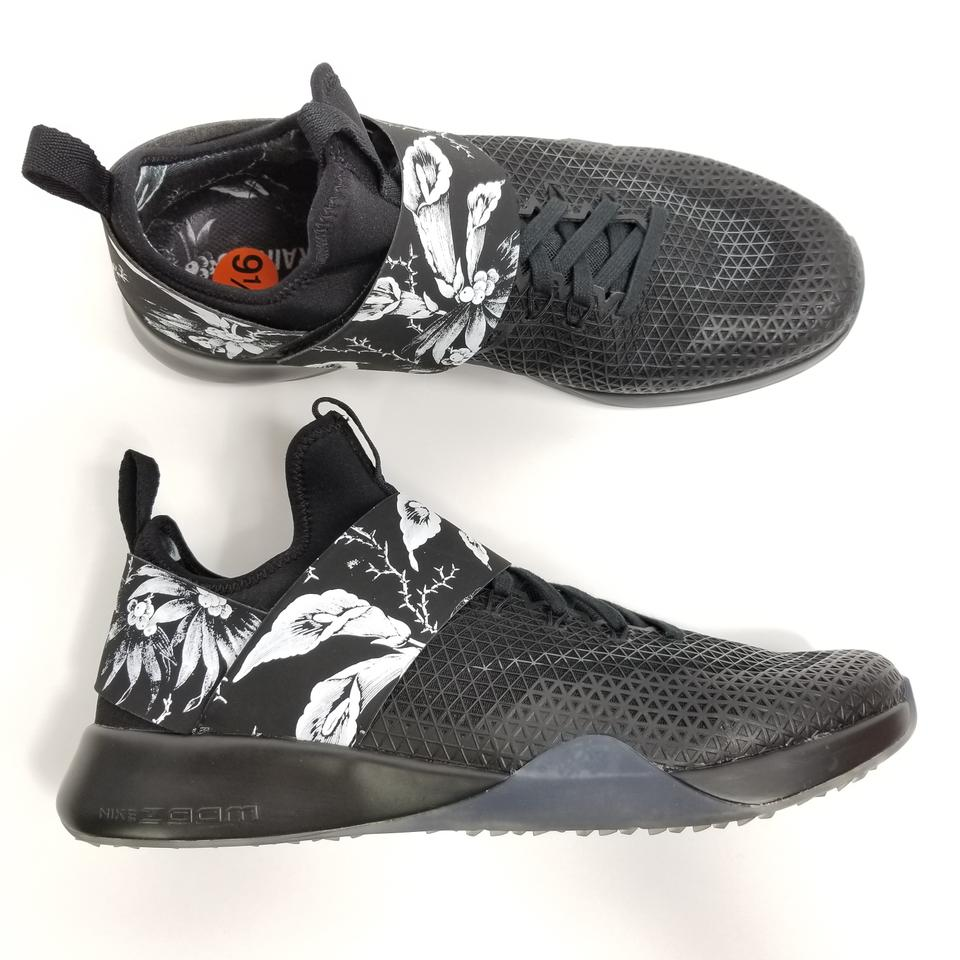 Nike Black Air Womens Zoom Strong Amp Floral Running Aa35 Sneakers ... 4206b738a