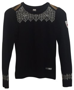 Dale of Norway Jacquard Knit Crew Neck Horse Cozy Sweater