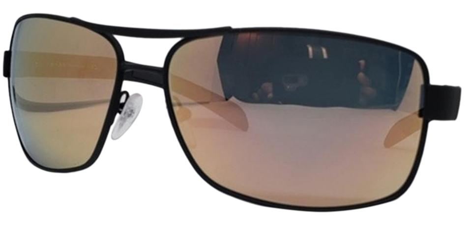 e58f36217dfb Prada Brown   Green   Pinkish   Green Unisex Sports Rubber Plastic Frame  with Mirrored Lens Sunglasses