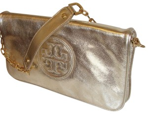 7c788dc0 Gold Leather Tory Burch Clutches - Up to 70% off at Tradesy