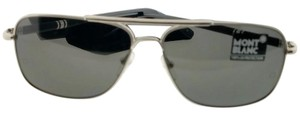 Montblanc MB508S-­16A-­60 Aviator Men's Silver Frame Grey Lens Sunglasses NWT