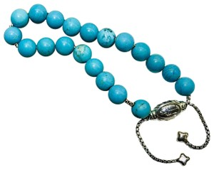 "David Yurman David Yurman Turquoise spiritual beads bracelet  8mm With original pouch 5.8""-9.8"" adjustable Comes with Pouch"