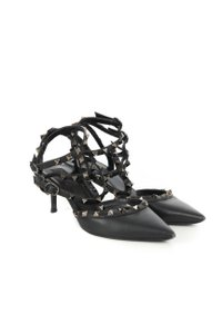 Valentino Rock Stud Black Pumps