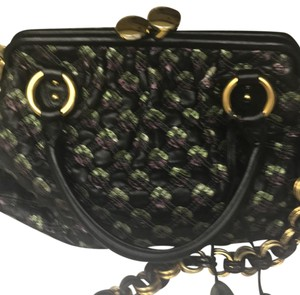Marc Jacobs Satchel in Black with purple and green accents
