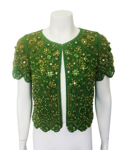 Escada Beaded Green Jacket