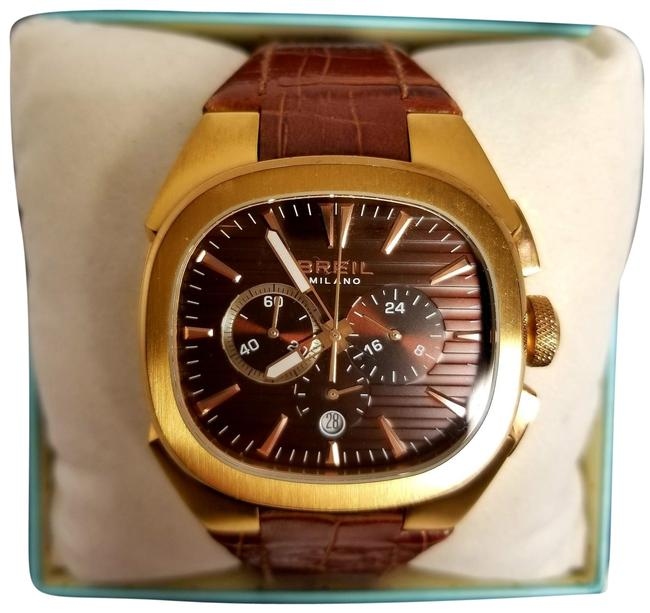 Item - Gold & Brown Chronograph Designer Watch