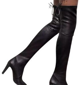 5e0be3a4b Stuart Weitzman Black Highland Over-the -knee Leather Boots Booties