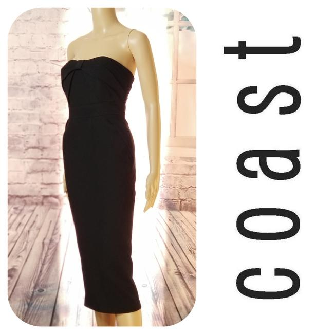 Preload https://img-static.tradesy.com/item/24088482/coast-black-strapless-mid-length-cocktail-dress-size-2-xs-0-1-650-650.jpg
